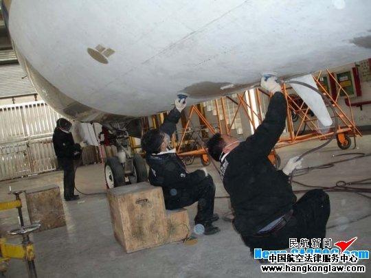 完成飞机定检工作