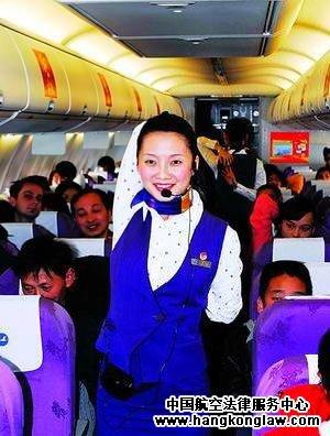 厦航空姐在飞机上教乘客学瑜伽